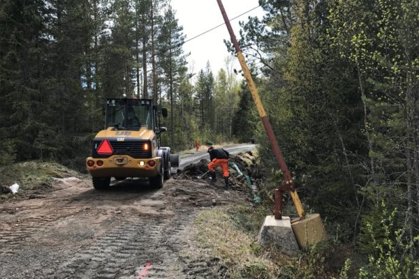 gräva fiber opto